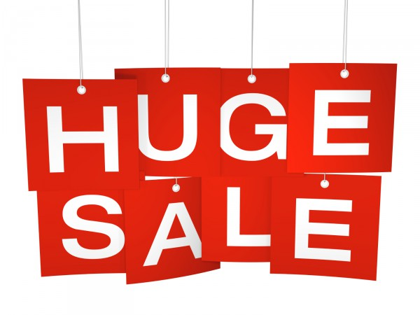 Huge Sale red hanging tags