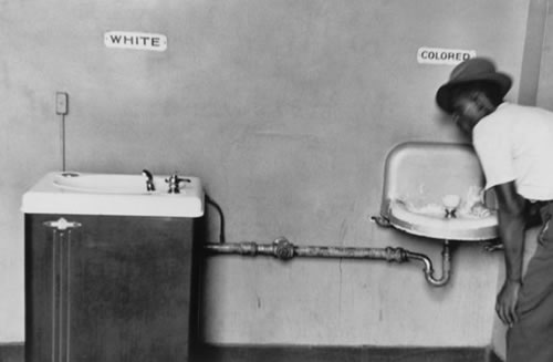 Elliott Erwitt: Segregated Water Fountains